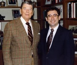 Tom Ogden with president Ronald Reagan